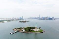 flyg- sikt NYC royaltyfria bilder