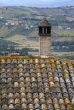 Flyg- sikt på Abruzzo kullar Arkivbild
