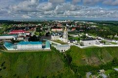 Flyg- sikt på den Tobolsk Kreml Ryssland Royaltyfri Fotografi