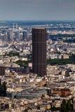 Flyg- sikt på Paris och Montparnasse från Eiffeltorn Royaltyfria Bilder