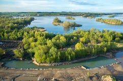 Flyg- sikt på sjön arkivbilder