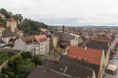 Flyg- sikt Schwandorf Arkivfoto
