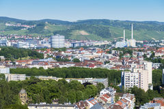 flyg- sikt till den Stuttgart staden Fotografering för Bildbyråer