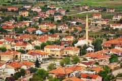 Flyg- sikt till den turkiska staden, bostads- fjärdedelar Royaltyfri Fotografi