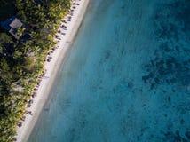 Flyg- sikt: Trou hjälpBiches strand Royaltyfria Foton