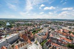 Flyg- sikt över staden av Ulm Royaltyfria Foton