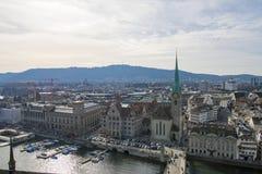 Flyg- sikt Zurich Arkivfoto