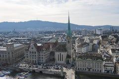 Flyg- sikt Zurich Royaltyfri Bild