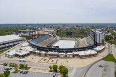 Flyg- sikter av Ross-Ade Stadium On The Campus av Purdue University royaltyfri fotografi