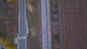 Flyg- skott av motorwayen lager videofilmer