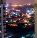 Flyg- skottgurgaondelhi cityscape Arkivbild