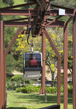 Flyg- spårvagn på Sterling Vineyards i Napa Valley Royaltyfri Foto