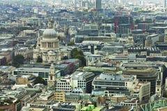 Flyg- stad av London cityscape Royaltyfria Bilder