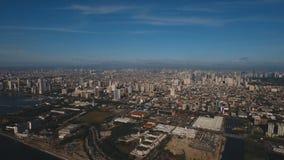 Flyg- stad med skyskrapor och byggnader Filippinerna Manila, Makati arkivbilder
