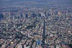 flyg- stad mexico Arkivfoto