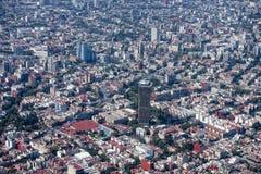 flyg- stad mexico Fotografering för Bildbyråer