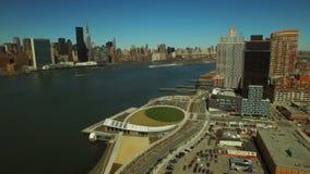 flyg- stad New York lager videofilmer