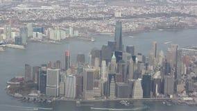 flyg- stad New York arkivfilmer