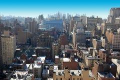 flyg- stadsdag New York Arkivbilder