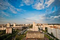 flyg- stadssikt Arkivfoto