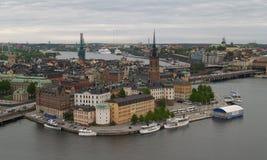 flyg- stockholm sikt Arkivbild