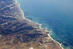 flyg- strand Kalifornien laguna Arkivfoto
