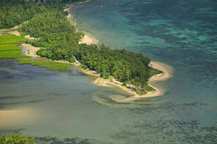Flyg- strand Mauritius Royaltyfria Foton
