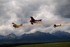 flyg- strid för acrobatics Royaltyfri Bild