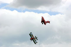 Flyg- strid - flyg- acrobatics Royaltyfria Foton