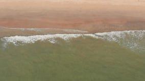 Flyg- surrsikt av den ?de Arambol stranden p? Goa med v?gor india lager videofilmer