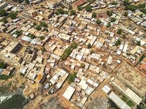 Flyg- surrsikt av niarelaen Quizambougou Niger Bamako Mali Royaltyfria Foton