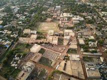 Flyg- surrsikt av niarelaen Quizambougou Niger Bamako Mali Arkivfoto