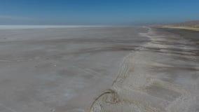 Flyg- surrsikt av Salt Lake i Turkiet Konya arkivfilmer