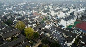 Flyg- Suzhou trädgårds- stad Arkivbild