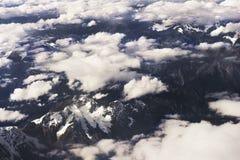 Flyg- Tibet berg Arkivfoto