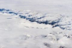 Flyg- Tibet berg Royaltyfri Fotografi