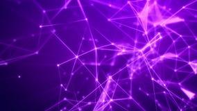 Flyg till och med det abstrakta violetta rastret Arkivbild