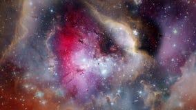Flyg till och med nebulosan 4K vektor illustrationer