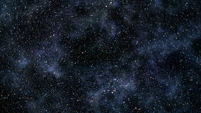 Flyg till och med stjärnafält vektor illustrationer
