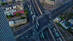 Flyg- Timelapse av telefon Aviv Trafic lager videofilmer