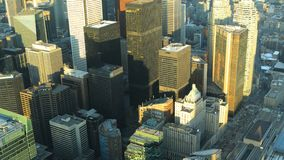 Flyg- timelapseplats av Toronto, Ontario 4K stock video