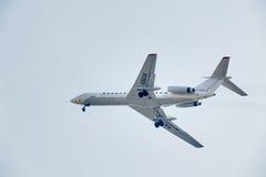 Flyg Tu-134 av det Utair företaget Arkivfoto