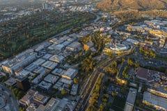Flyg- universell stad Los Angeles för eftermiddag Arkivfoto