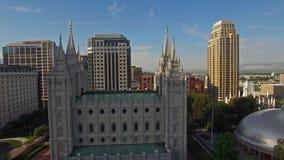 Flyg- Utah Salt Lake City stock video