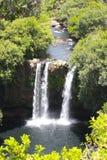 Flyg- vattenfall arkivbild