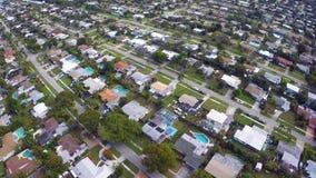Flyg- video av en grannskap stock video