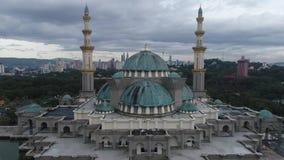 Flyg- video av moskén för federalt territorium arkivfilmer
