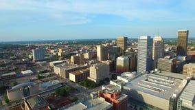 Flyg- video av oklahoma city stock video