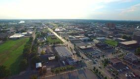 Flyg- video av oklahoma city arkivfilmer
