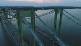Flyg- video bro för Delaware minnesmärke arkivfilmer